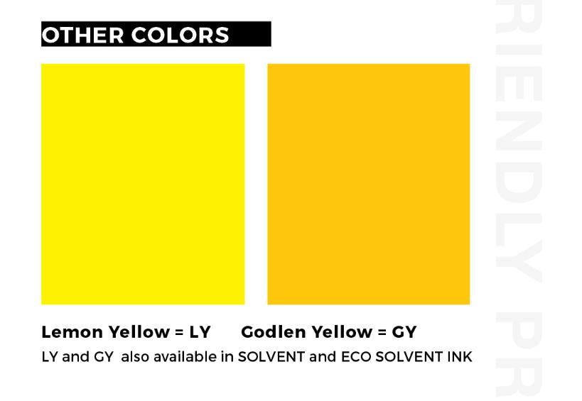 What's the difference of Golden Yellow and Lemon Yellow